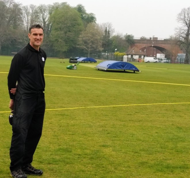 Lee Padwick, working at Guildford Cricket Club